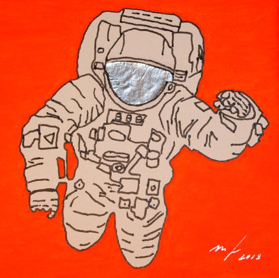 ASTRONAUT - SPACE SERIES Markus Feiler Kunst Künstler art artist