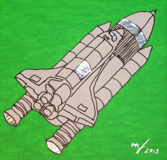 SPACE SHUTTLE - SPACE SERIES Markus Feiler Kunst Künstler art artist