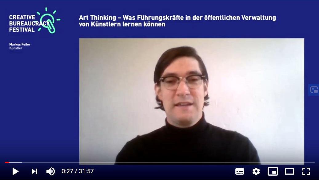 Art Thinking Markus Feiler Creative Bureaucracy Festival Youtube